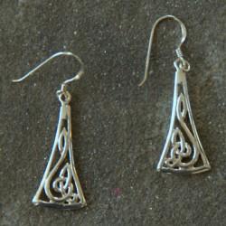 """Silver """"Treble Clef"""" Earrings"""