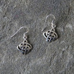 Silver Celtic Eternity Knot Earrings A
