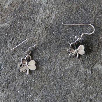 Silver Shamrock Earrings A