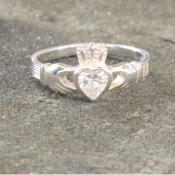 Claddagh Ring with Crystal