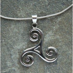 Large Celtic Triscal Pendant