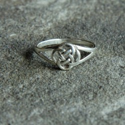 Silver Spiral of Life Ring