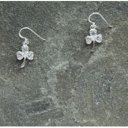 Shamrock Earrings with Crystal